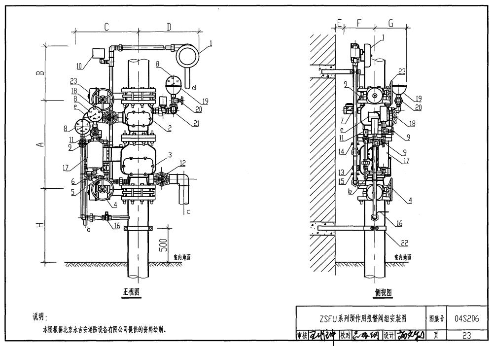 雨淋阀组结构图