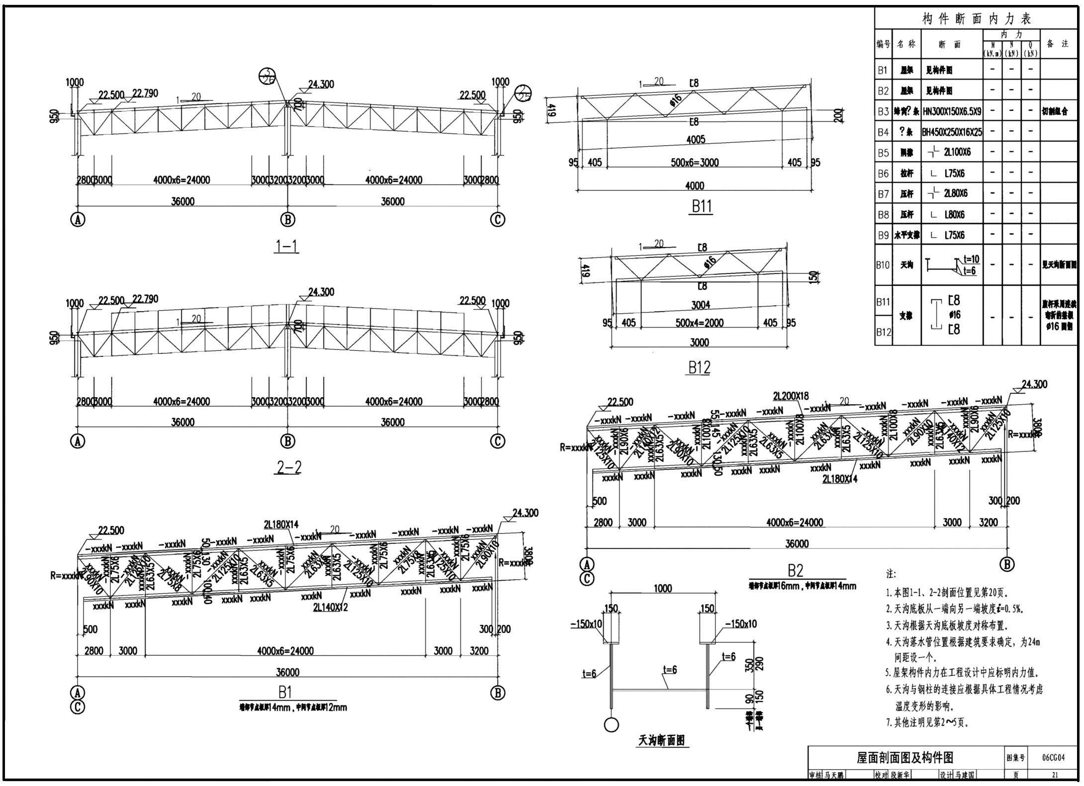 06CG04:钢结构参考校园-单层工业厂房(设计图定向越野图纸示例百米图片